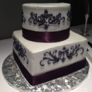 130x130 sq 1450720684436 purple wedding cake 2
