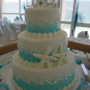 130x130 sq 1384971064852 wedding cake blue and white waves and starfis