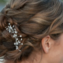 Set of three Rhinestone vine hairpins - vines are flexible and can be bent to the shape of your hairstyle.