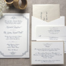 130x130 sq 1426616743870 traditional invitation with navy thermography