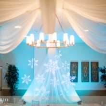 220x220 sq 1378930425689 teal uplighting with blue snowflake lights