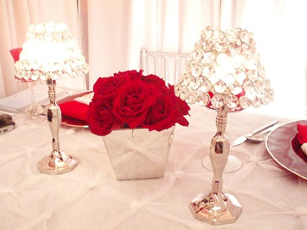 Red gold centerpiece  Etsy