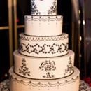 130x130 sq 1369338048460 black and white damask wedding cake