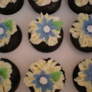 130x130 sq 1372438504386 white cupcakes with blue flowers