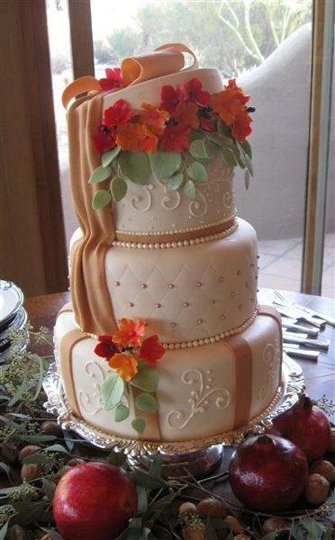 elegant fall wedding cakes cake creations mesa az wedding cake 13960