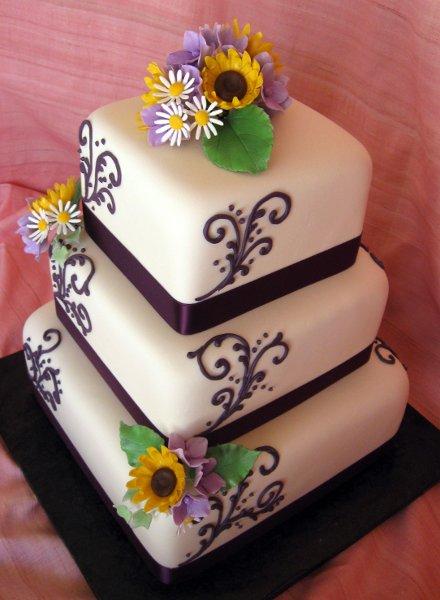 purple white yellow square wedding cakes photos amp pictures