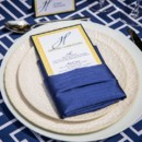 130x130 sq 1428354886801 navy blue wedding table setting
