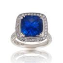 130x130 sq 1386190604308 cushion blue sapphire diamond ring