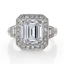 130x130 sq 1386190608180 emerald cut diamond rin