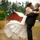 Bride and groom on Lopez Island