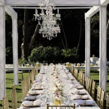 220x220 sq 1503342958069 banquet style with light rafter