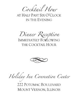Reception Card Wording | Weddings, Planning, Etiquette and Advice ...