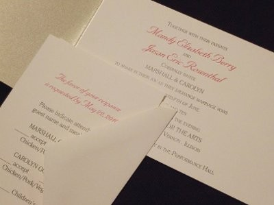 What information should be included and not included in the – Wedding Invitation Insert Cards