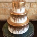 130x130 sq 1433004122111 gold wedding cake