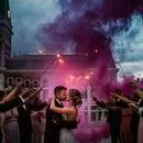 130x130 sq 1533215470 3406c1d12dd4fe97 columbus commons summer wedding smoke bomb indianapolis weddin