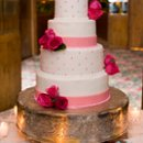 130x130 sq 1272295798735 weddingphotogallerypic23weddingcakeinnycpinkandwhite