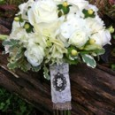 130x130 sq 1389718043863 wrapping of bouquet for brides maids ivory rose