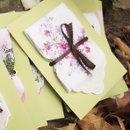 Victorian themed, printed vintage handkerhchief programs