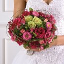 130x130 sq 1268361418222 bridesbouquetpinkwithlilygrass