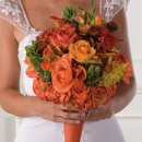 130x130 sq 1268363043190 bridesbouquetorangeandpeach