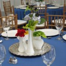 130x130 sq 1446562238861 blue linen centerpiece