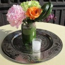 130x130 sq 1446562563689 pink orange green centerpiece
