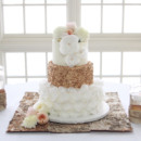 130x130 sq 1446571574946 wedding cake gold