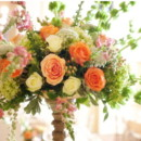 130x130 sq 1377460718711 indian wedding reception flowers centerpiece salmon orange green pink