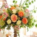 130x130 sq 1377460718711 indian wedding reception flowers centerpiece salmon orange green pink