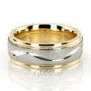 130x130 sq 1366656526780 tt233 two tone wave design milgrain wedding band