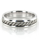 130x130 sq 1366657850456 hm018 handmade wedding ring consists of one large center braid and shiny edges