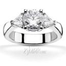 130x130 sq 1366660921406 triangle sides round center three stone diamond engagement ring