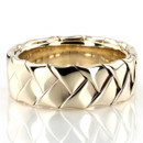 A chic style, this 7mm wide Hand Woven wedding band consists of a beautiful wide braid. This wedding band is also available in 5, 6, 8mm. The band is high polished.