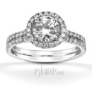 130x130 sq 1382624433793 micro pave split shank diamond 18k diamond engagement ring