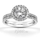 130x130 sq 1382624433793 micro pave split shank diamond 18k diamond engagement ring