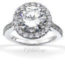 130x130 sq 1382624453666 brilliant halo contemporary diamond engagement ring