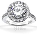 130x130 sq 1382624453666 brilliant halo contemporary diamond engagement ring