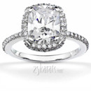 130x130 sq 1382624456746 brilliant diamond radiant halo engagement ring