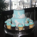 130x130 sq 1413946592229 tiffany blue seashell cake and cupcakes