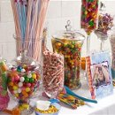 A candy buffet that was done for a birthday party