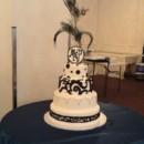 130x130 sq 1465568114075 mariah  pauls wedding cake white  black w their pe