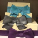130x130 sq 1465568157287 square cake 3 tier with large bows at ea base no t