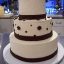 130x130 sq 1465568185053 wedding cake bc 3 tier w choc flwrs front