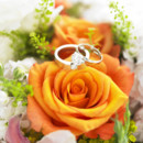130x130 sq 1373573047691 wedding ring   orange roses