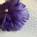 130x130 sq 1331318929769 lavenderflowerclipwithbirdcageveil2