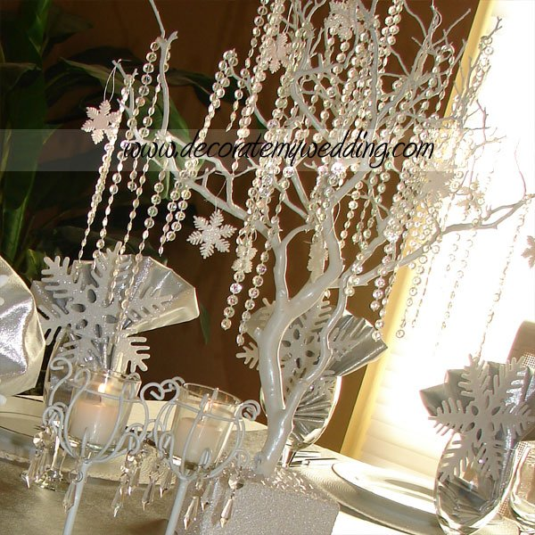 Crystal And White Wedding Theme: Silver White Altar/Arch Arrangements Centerpieces Indoor