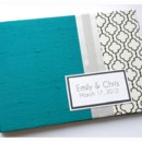 130x130 sq 1430504059593 modern teal black white guest book