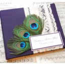 130x130 sq 1430504065351 purple peachock guest book