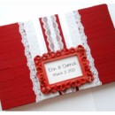 130x130 sq 1430504068509 red framed name card wedding guest book