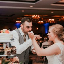 220x220 sq 1502736814639 madisonweddingsheratonreceptioncake cutting